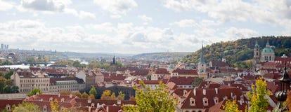 Прага панорама Стоковое Фото