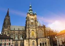Прага Собор Vitus святой стоковое изображение rf