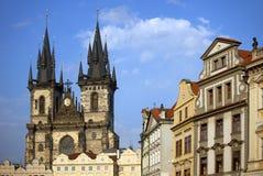 Прага - старый квадрат города городка Стоковые Фото