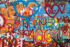 Прага - стена Lennon стоковая фотография rf