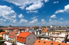 Прага, чехия - новая часть города Стоковая Фотография RF