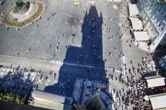 ПРАГА, ЧЕХИЯ - 24-ОЕ АВГУСТА 2016: Вид с воздуха людей Стоковая Фотография RF