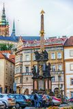 Прага, чехия - 18-ое августа 2018: Столбец святого Trin стоковые фото
