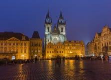 Прага, чехия - 18-ое октября 2017: Люди идя на Стоковые Изображения