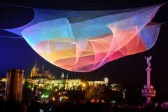 ПРАГА, ЧЕХИЯ - 17-ОЕ ОКТЯБРЯ: Фестиваль 2015 сигнала Стоковое Фото