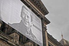 2014/11/17 - Прага, чехия - портрет чехословакского президента Vaclav Havel Стоковая Фотография RF