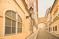 Прага, чехия, старая улица городка в городе Стоковая Фотография RF