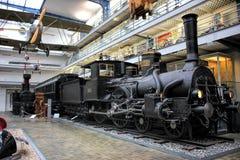 Прага, чехия - 23-ье сентября 2017: Локомотив пара в национальном техническом музее в Праге, чехии Transpor стоковое изображение