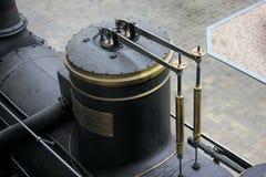 Прага, чехия - 23-ье сентября 2017: Элемент локомотива пара в национальном техническом музее в Праге, чехии T стоковые фотографии rf