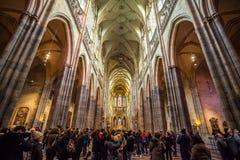 24 01 2018 Прага, чех Rebublic - взгляд внутри исторического s Стоковые Фото