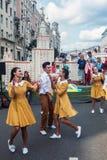 Праздненства в честь дня рождения 870th годовщины  Стоковое Фото