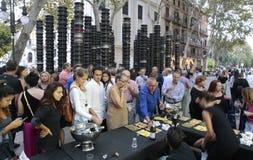Праздненство экспоната искусства Moder в Мальорке outdoors стоковая фотография