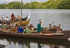 празднество исторические vikings шлюпки Стоковое Изображение