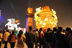 Празднество фонарика 2013 китайцев в Чэнду Стоковая Фотография RF