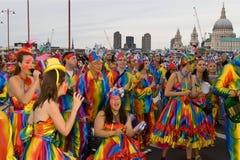 празднество 2008 thames стоковые фотографии rf
