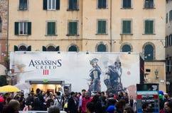 Празднество 2012 комиксов Lucca, Тоскана, Италия Стоковая Фотография RF
