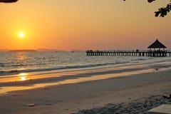 Праздники в Камбодже красивый вид от пляжа Внушительный мир перемещения Остатки лета стоковое изображение rf