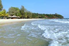 Праздники в Камбодже красивый вид от пляжа Внушительный мир перемещения Остатки лета стоковая фотография
