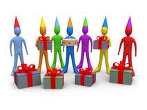 праздники дня рождения иллюстрация штока