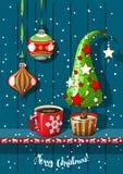 Праздники повод, украшения рождества иллюстрация вектора