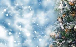 Праздники предпосылка рождества и Нового Года, сезон зимы стоковое фото rf
