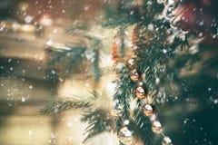 Праздники предпосылка рождества и Нового Года, сезон зимы стоковые фото