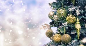 Праздники предпосылка рождества и Нового Года, сезон зимы стоковые изображения rf