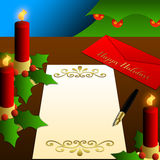 праздники рождества свечки счастливые помечают буквами вал иллюстрация штока