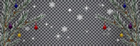 Праздники чешут с прозрачностью предпосылки рождественской елки иллюстрация вектора