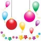 праздники шарика счастливые иллюстрация штока
