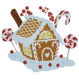 праздники gingerbread рождества застекляя расквартировывают подготовки кладя женщину валов иллюстрация вектора
