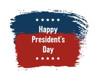 Праздник Дня национальный США счастливого президента Поздравительная открытка с флагом США американским, рукописным смелым тексто иллюстрация штока