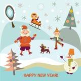 Праздник Новый Год Стоковая Фотография RF