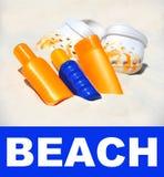 праздник пляжа предпосылки вспомогательного оборудования Стоковое фото RF