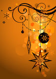 праздник предпосылки золотистый Стоковая Фотография RF
