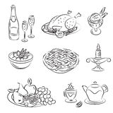 праздник семьи обеда Стоковое Изображение