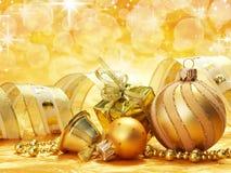 праздник украшений золотистый Стоковые Изображения