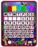 праздник январь 2010 календаров бесплатная иллюстрация