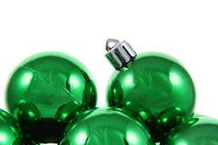 праздник baubles зеленый стоковые фото