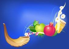 Праздник hashana Rosh традиционный еврейский Стоковые Изображения