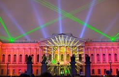 праздничная выставка лазера стоковые фотографии rf