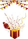 Праздничная партия background02 иллюстрация штока
