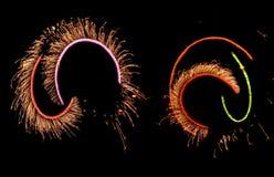 праздничная пламенистая выставка Стоковые Фотографии RF