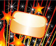 праздничная плита золота Стоковые Фото