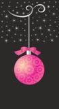 Праздничная предпосылка зимы с шариком Стоковые Фото