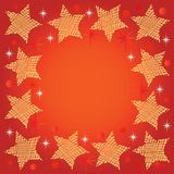 Праздничная предпосылка с звездами Стоковая Фотография