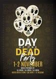 Праздничная рогулька партии дня умерших бесплатная иллюстрация
