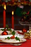 праздничная таблица установки стоковое изображение rf