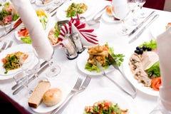праздничная таблица Стоковая Фотография