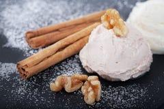 Праздничное мороженое с циннамоном Стоковое Фото
